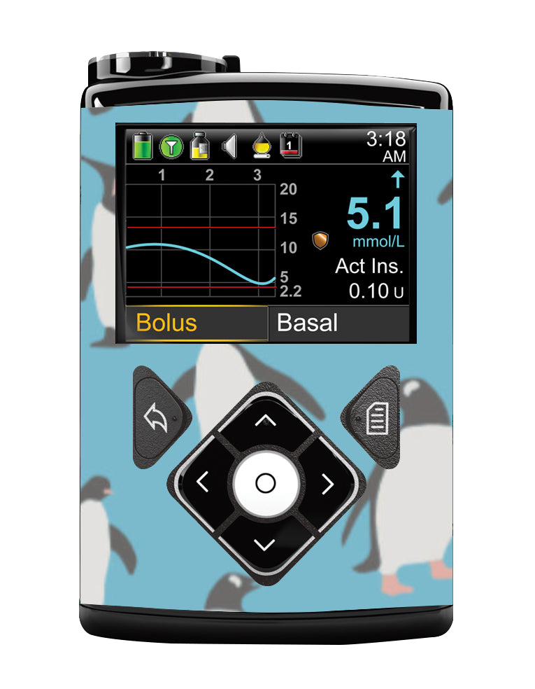 Medtronic 640G Cover (Penguins)