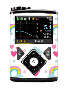 Medtronic 640G Cover (Rainbows)