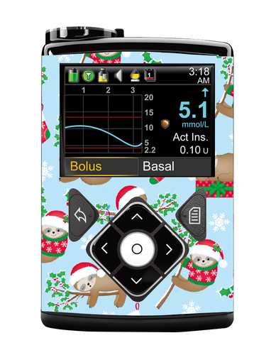 Medtronic 640/670G Cover (Sloth Santas)