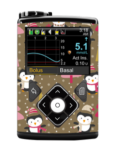 Medtronic 640/670G Cover (Winter Penguins)