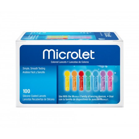 Microlet 0.5mm/28 Gauge Lancets (pack of 100)