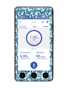 Omnipod DASH Cover (Butterfly Blue)