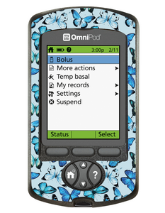 Omnipod PDM Cover (Butterfly Blue)