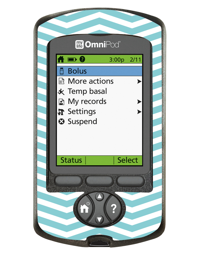 Omnipod PDM Cover (Mint Chevron)