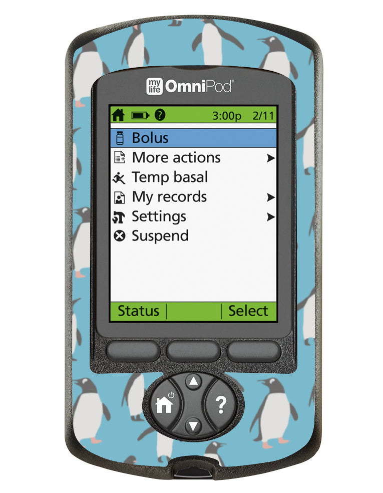 Omnipod PDM Cover (Penguins)