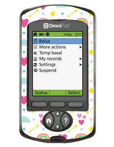 Omnipod PDM Cover (Rainbows)