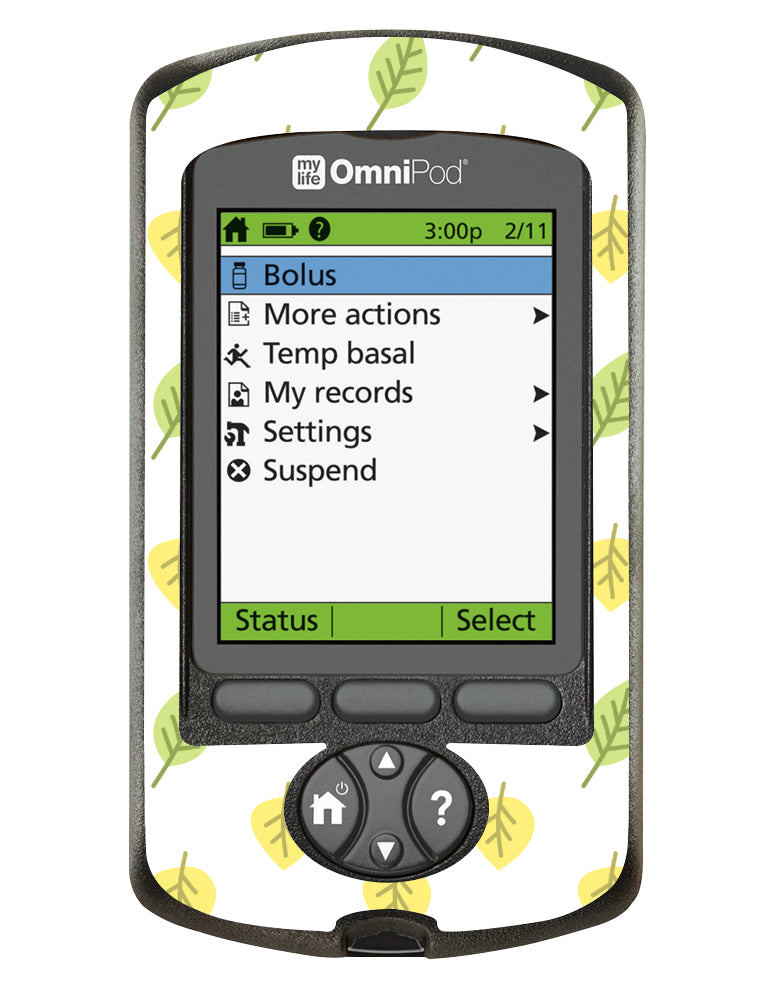 Omnipod PDM Cover (Summer Leaves)