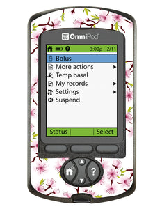 Omnipod PDM Cover (White Cherry Blossom)