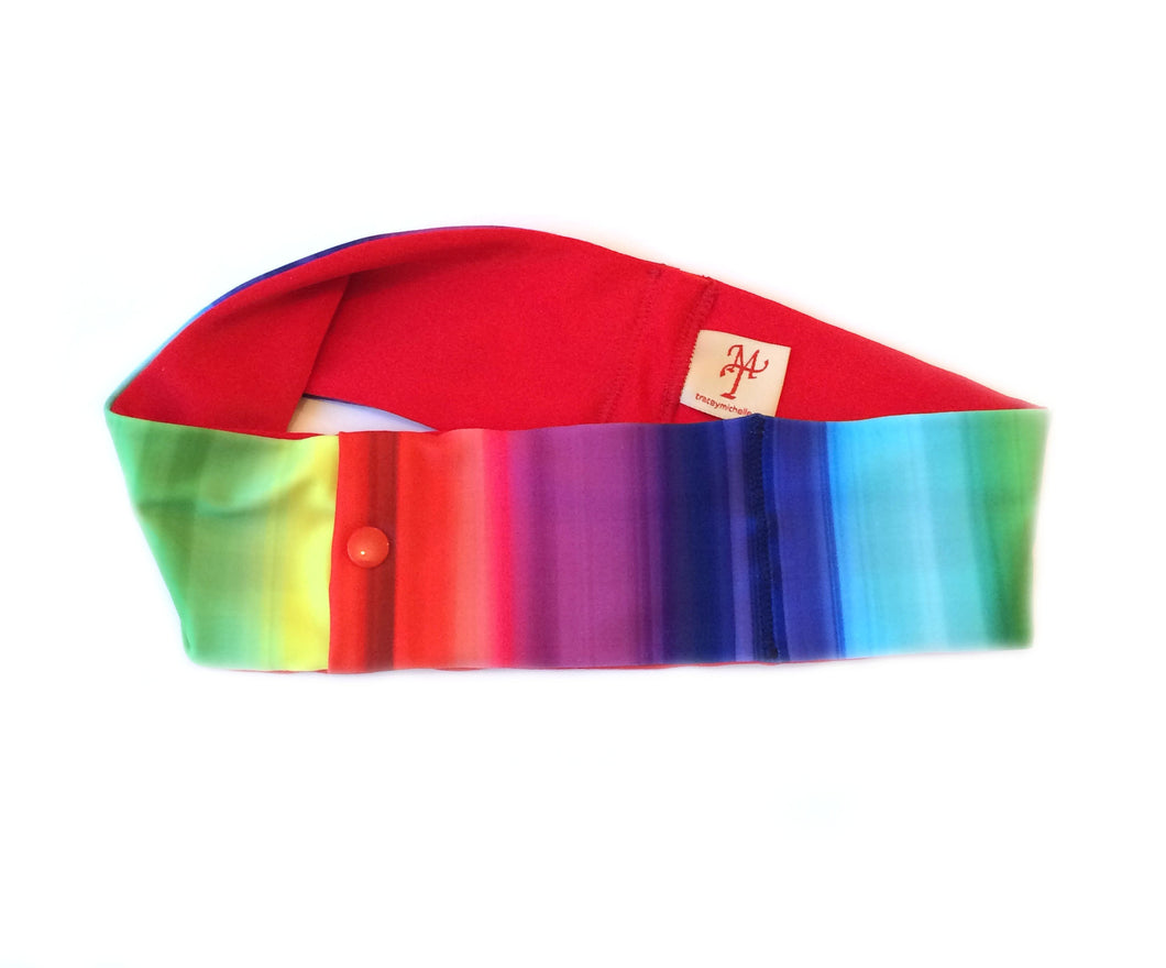 Rainbow Stripe Super Slim Pump Waist Band Pouch
