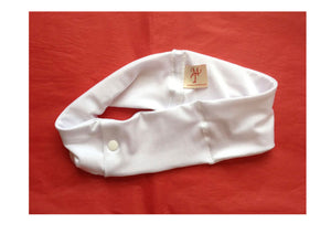 White Super Slim Pump Waist Band Pouch
