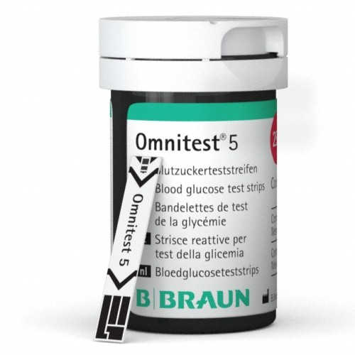Omnitest 5 Blood Glucose Test Strips - Pack of 50