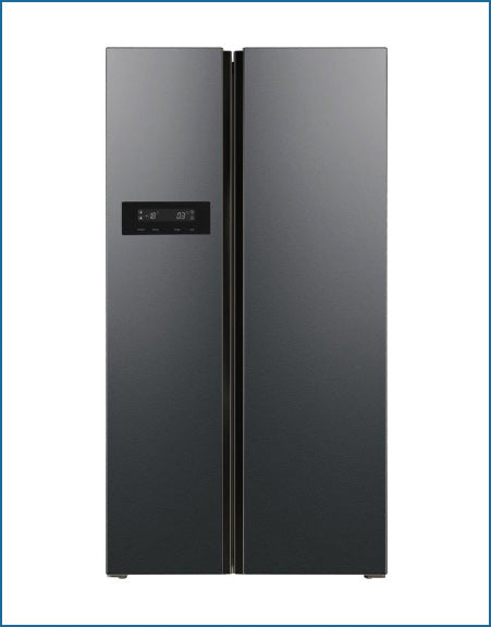 American Style Fridge Freezer Graphite Black