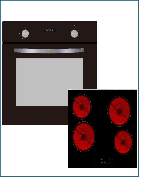 CKPK8 PowerPoint Digital Oven and Ceramic Hob Pack