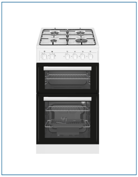 P05G2SNGW PowerPoint 50cm Twin Cavity Gas Cooker