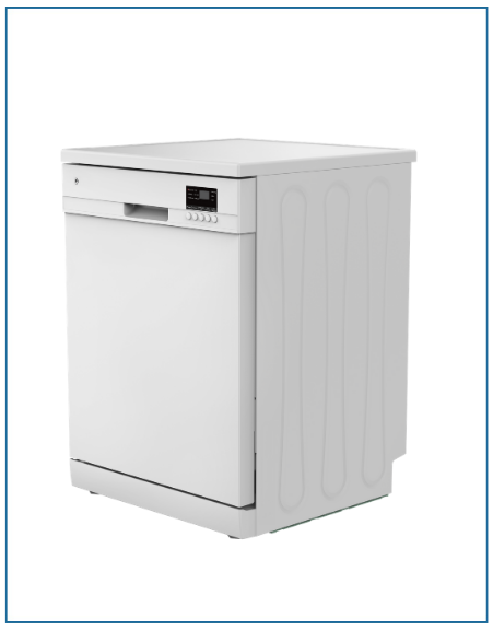 P2612ELGWH Powerpoint 12 Place Dishwasher