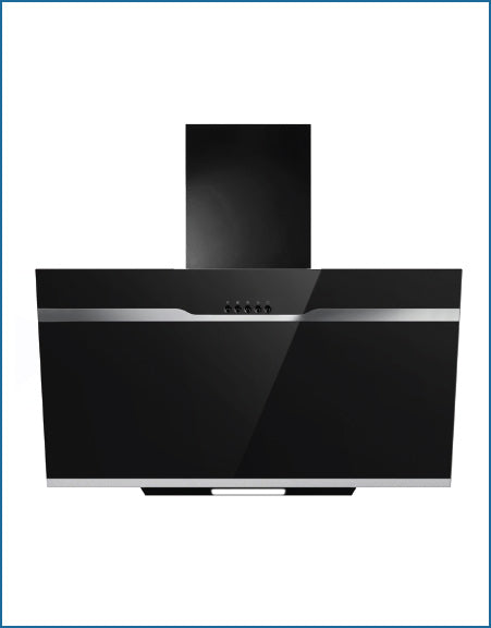 PowerPoint P21350XBBL 60cm Cooker Hood Black Glass