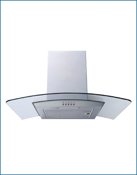 60cm Cooker Hood Curved Glass S/Steel