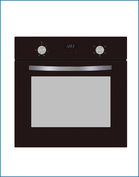 PowerPoint P24FDBXSB Digital Single Oven Black