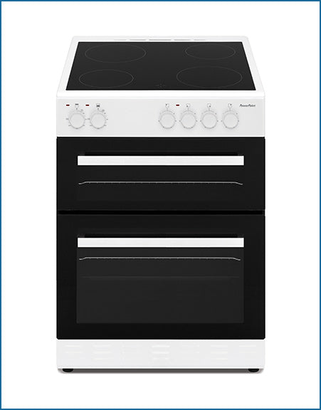 P06C2S1WH PowerPoint 60cm Double Cavity with Ceramic Hob