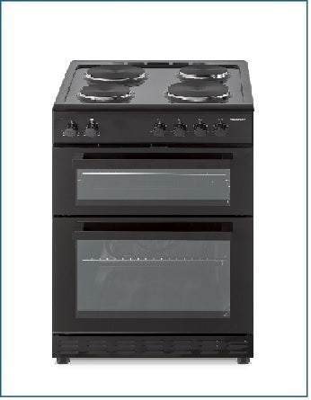 P06E2S1BL PowerPoint 60cm Double Cavity with Solid Hob