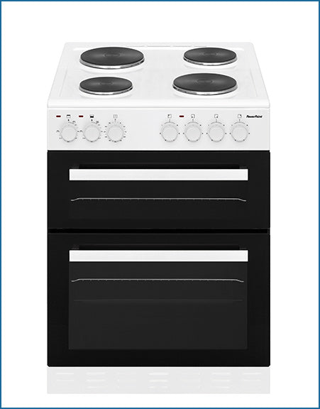 P06E2S1W PowerPoint 60cm Double Cavity with Solid Hob