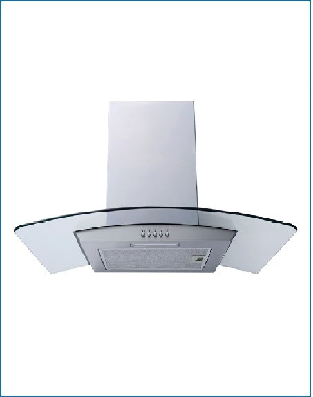 P21390XBSS POWERPOINT 90CM CURVED GLASS HOOD