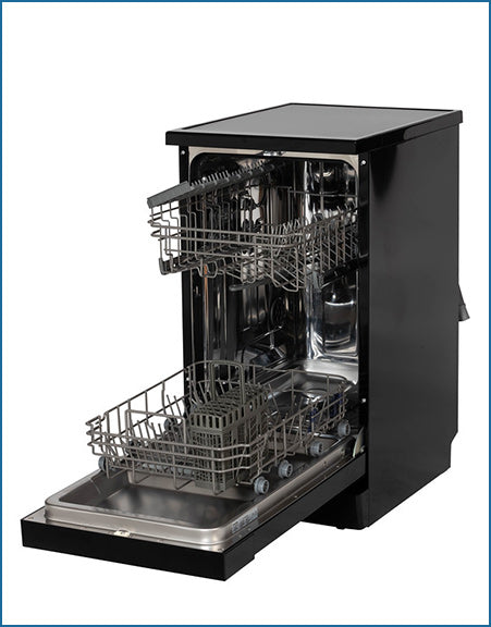 45cm 10 Place Dishwasher Black