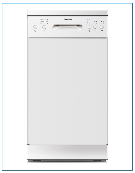 P24510M6WH PowerPoint 45cm 10 Place Dishwasher White