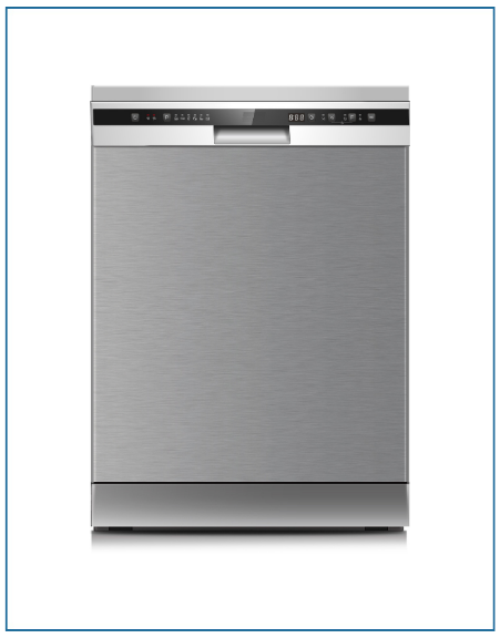 P2612MINOX PowerPoint 60cm 12 Place Dishwasher White