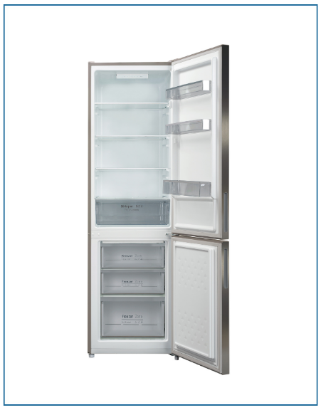P65564MSFX PowerPoint SMART FROST 60/40 F/FREEZER INOX 55 X 176