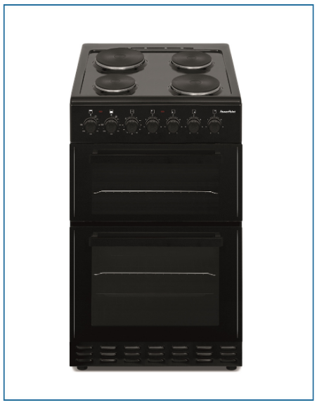 P05E2S1BL PowerPoint 50cm Double Cavity with Solid Hob