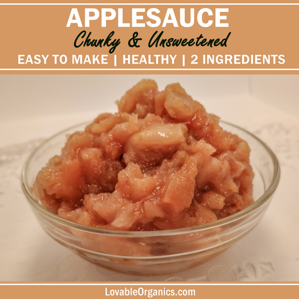 Healthy Delicious Unsweetened Chunky Applesauce Homemade DIY Recipe
