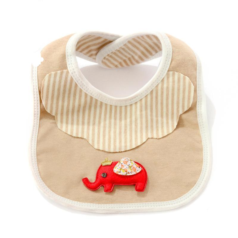 5-Pack Organic Double Layer Cotton (non-dyed) Bibs