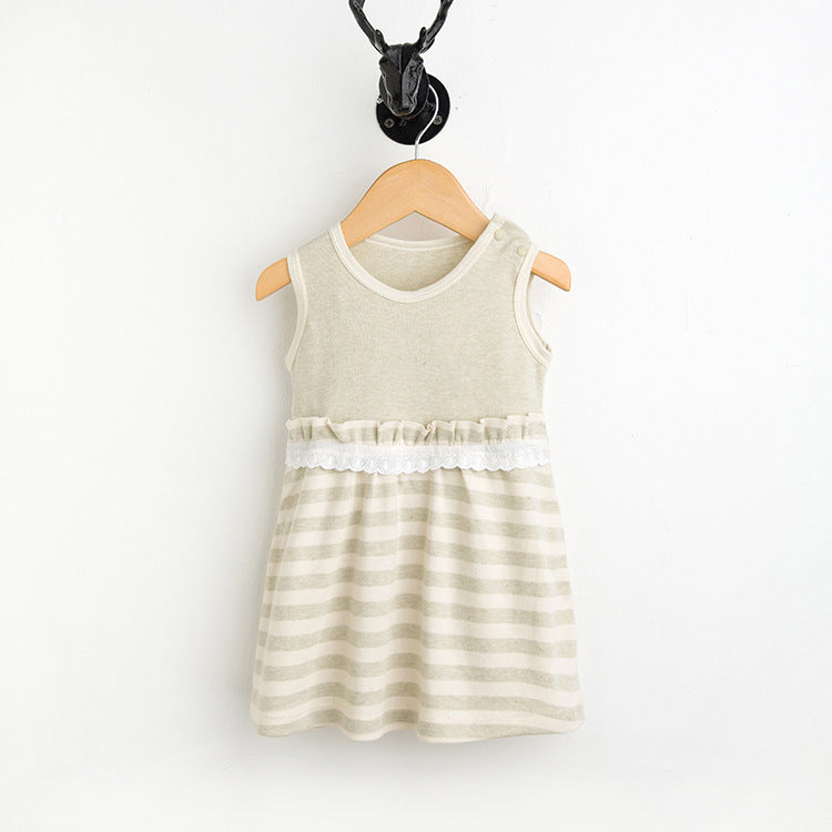 Organic Colored Cotton Baby Girl Dress