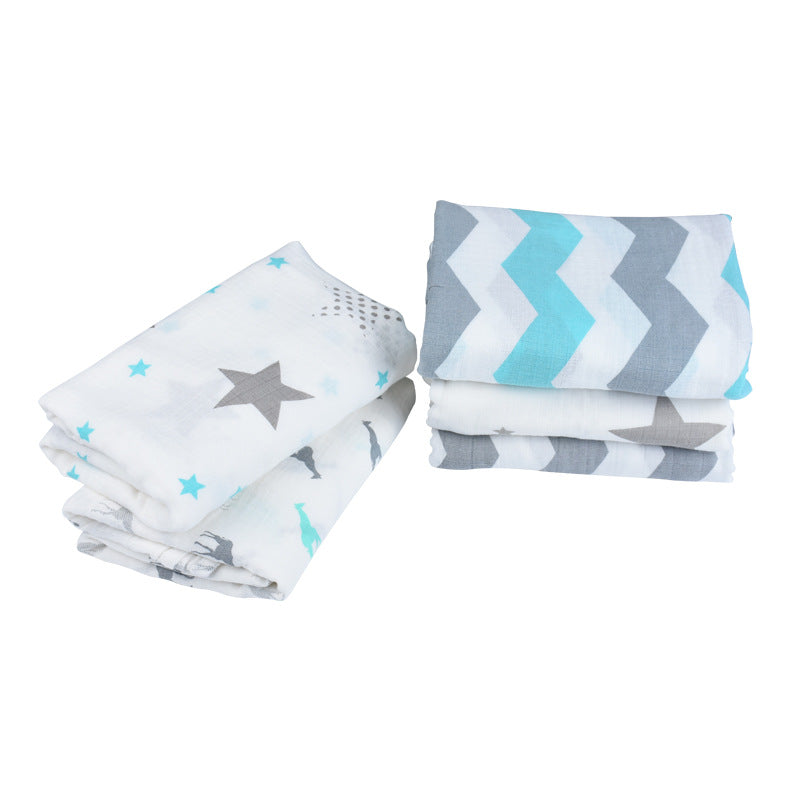 3-pack 100% Organic Cotton Muslin Swaddle Blankets