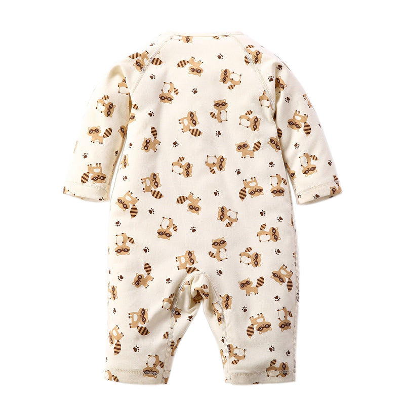 Mr. Raccoon Naturally Colored Organic Cotton  Baby Romper