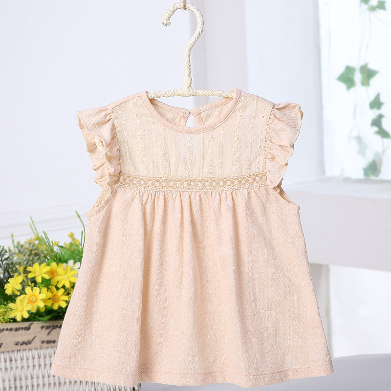Naturally Colored Organic Cotton Summer Mini Baby Girl Dress