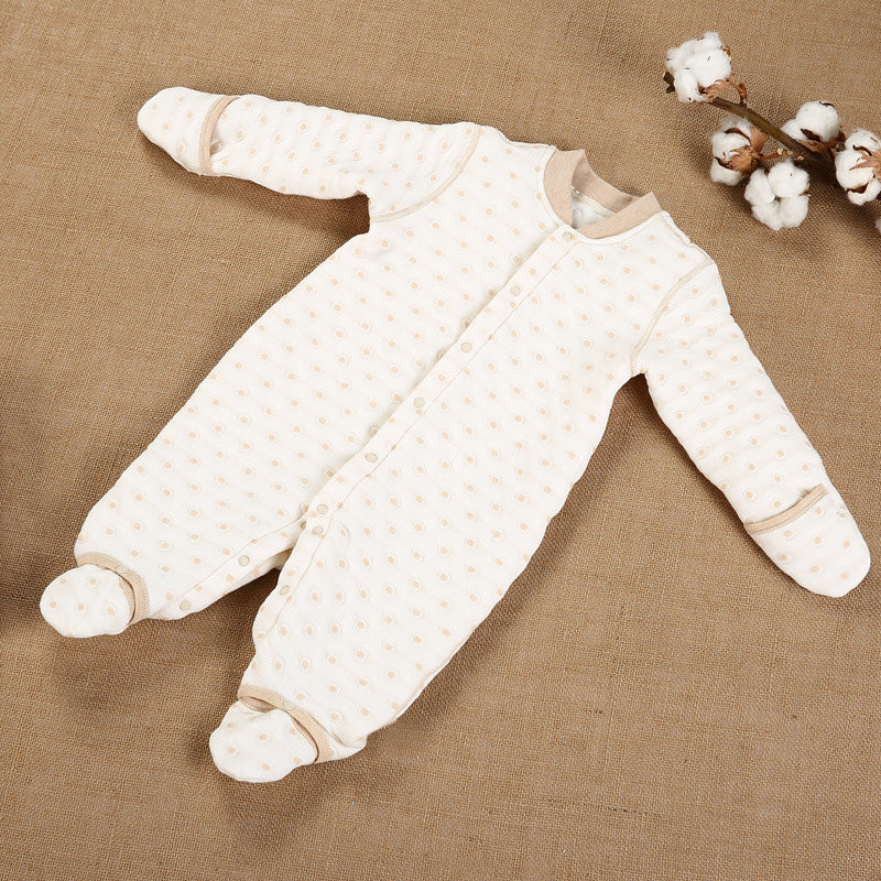 Organic Cotton Autumn Baby Romper with Long Sleeves