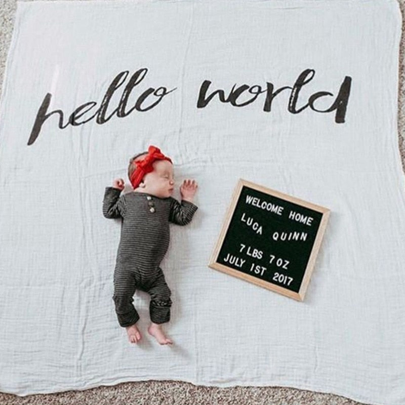 100% Organic Cotton Muslin Blankets with Uplifting Messages