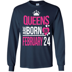 24 February Woman Shirts Queens Are Born On February 24 Hoodies Sweatshirts