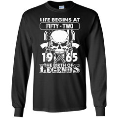 1965 Skull Shirts 1965 The Birth Of Legends Hoodies Sweatshirts
