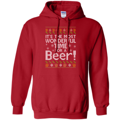 Beer Ugly Christmas Shirts It's The Most Wonderful Time For A Beer Hoodies Sweatshirts