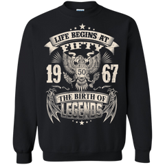1967 Shirts Life Begins At Fifty 1967 The Birth Of Legends Hoodies Sweatshirts