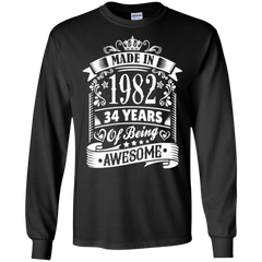 1982 Shirts Made In 1982 34 Years Of Being Awesome Hoodies Sweatshirts