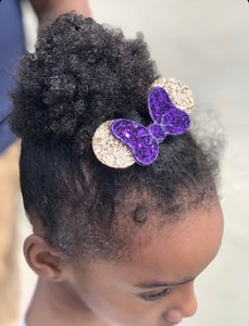 Gold and Royal Purple Bow and Ears