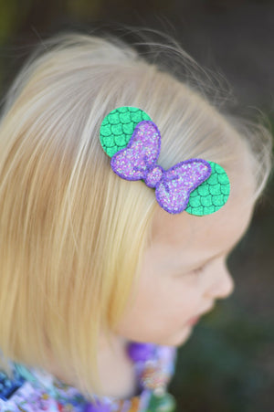 Mermaid Single Bow and Ears