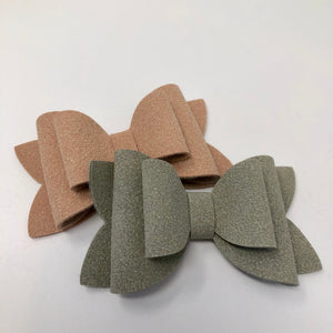 "Stacked Faux Suede 3"" Bows"
