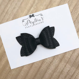 "Stacked Black 3"" Bows"