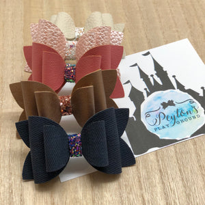 "Fall Classics 3"" Stacked Bow-Choose Color"