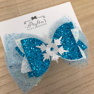 LARGE Ice Queen Lux Bow
